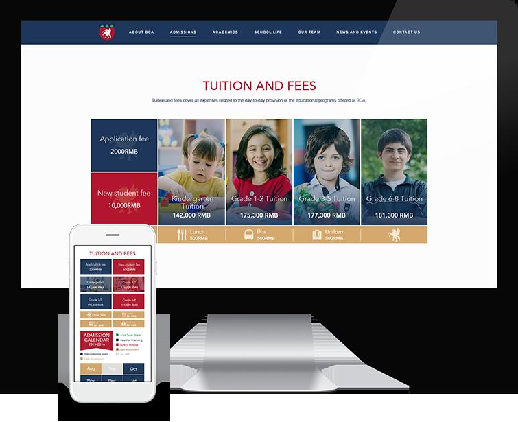北京常春藤国际学校的网站设计-Flow Asia