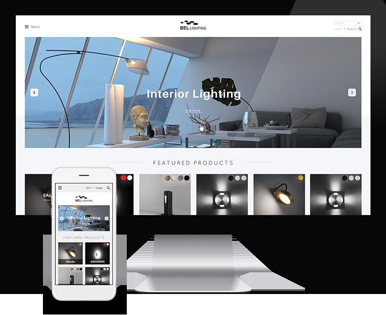 Bel Lighting的网站设计-Flow Asia