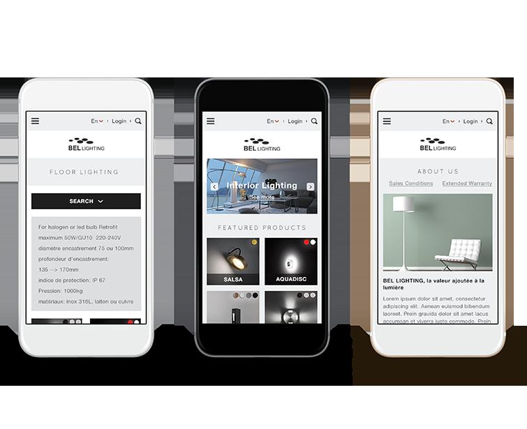 Bel Lighting的手机网站建设-Flow Asia