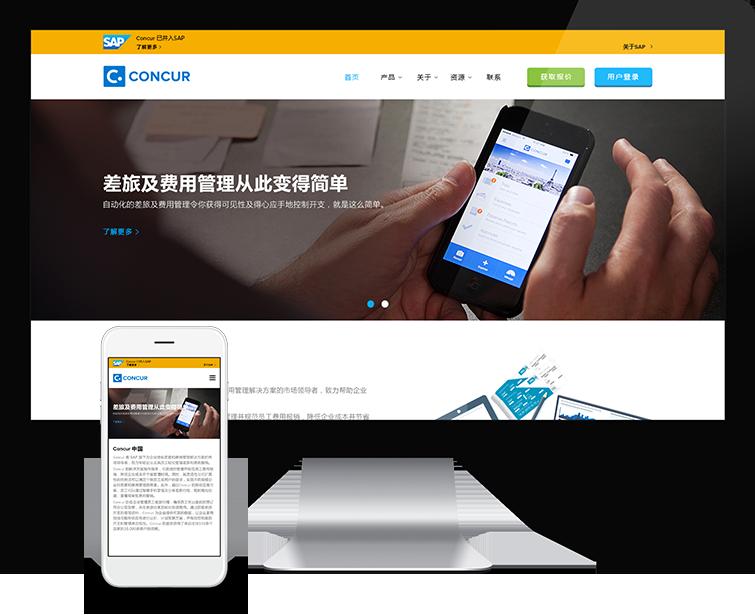 Concur的自适应网站建设-Flow Asia