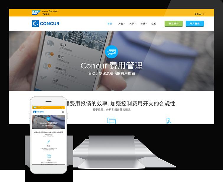 Concur的网站设计-Flow Asia