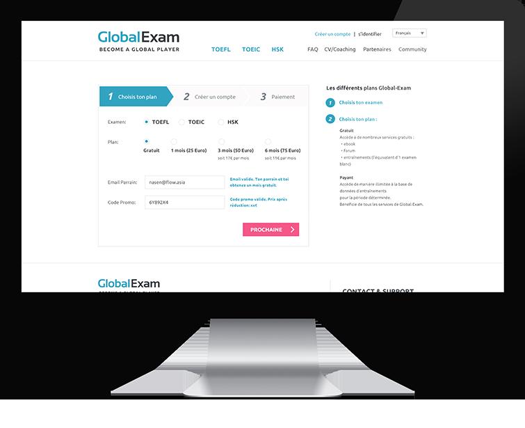 Global Exam的网站开发-Flow Asia