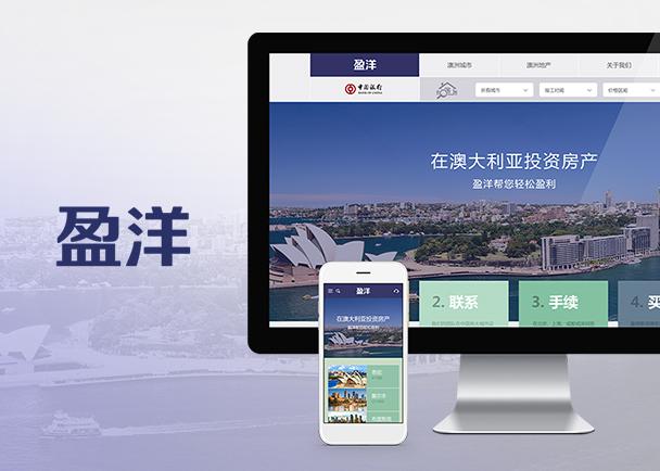 盈洋置业网站建设-Flow Asia